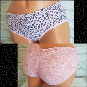 Victoria's Secret Animal Print Lace Hipster Panty